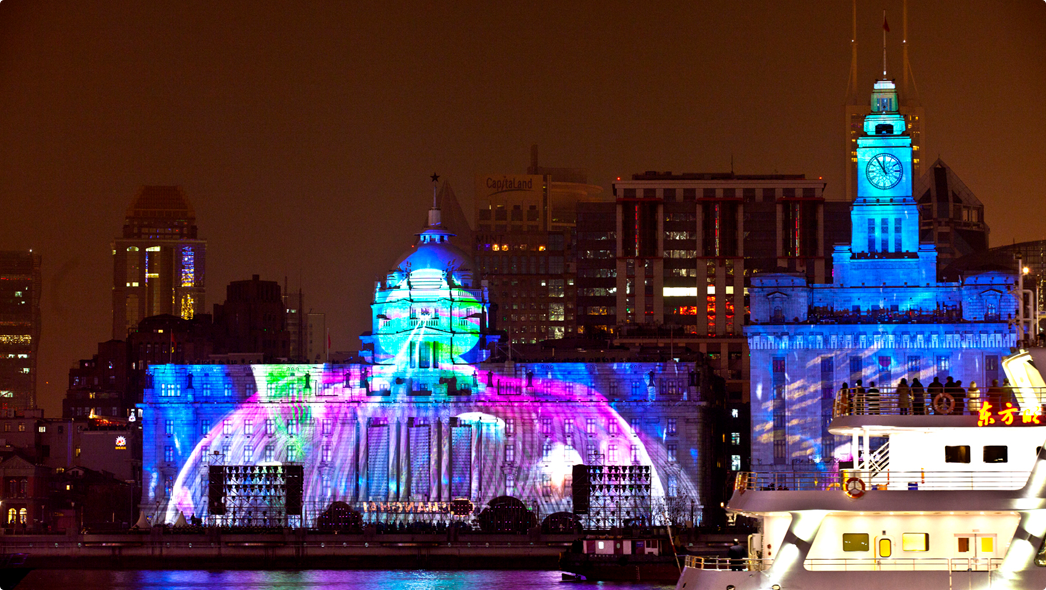 4D Light Show at the Bund