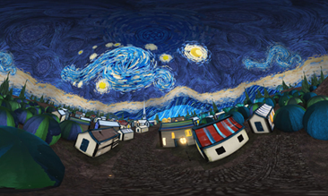 3D-VR version of Von Gogh's Starry Night